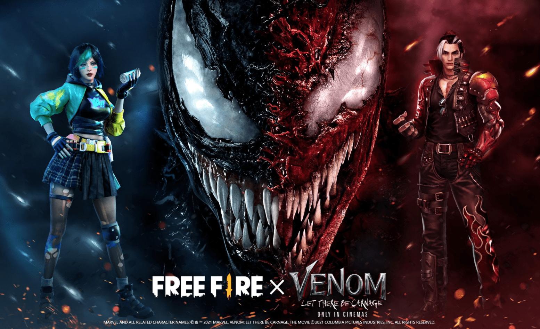 Free Fire x Venom:これまでにスキンがリークしました